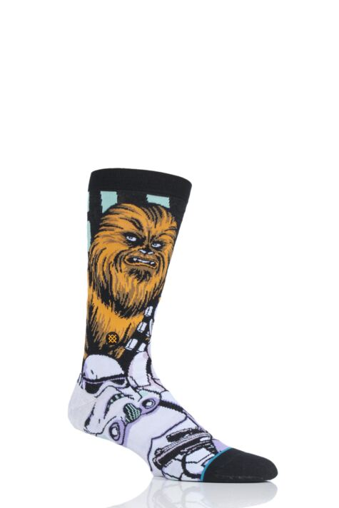 Mens 1 Pair Stance Star Wars Warped Chewbacca Cotton Blend Socks Product Image