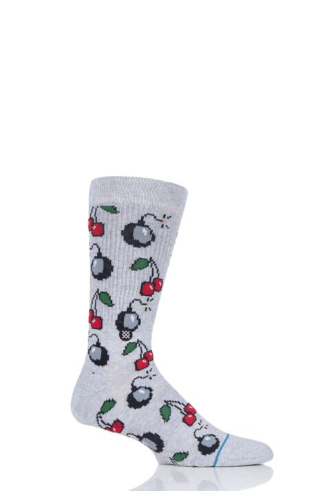 Mens 1 Pair Stance Cherri Bomb Cotton Socks Product Image