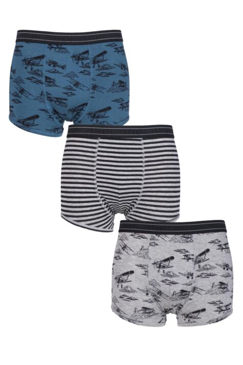 Mens 3 Pair Thought Wings Bamboo and Organic Cotton Briefs In Gift Box Product Image