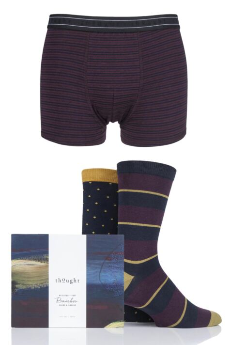 Mens 3 Pack Thought Bamboo Boxers and Socks Gift Set Product Image