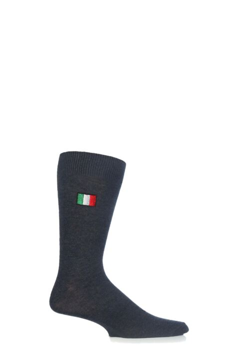 Mens 1 Pair SockShop New Individual Nations Embroidered Socks Product Image