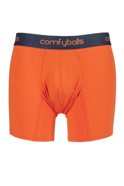 Mens 1 Pair Comfyballs Longer Leg Cotton Boxer Shorts Product Image