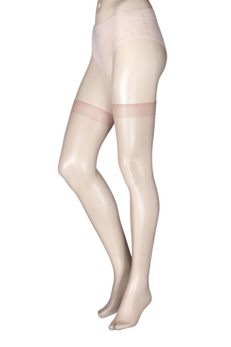Ladies 1 Pair Miss Naughty High Shine Luxury Sheer Stockings - Up to XXXL Product Image