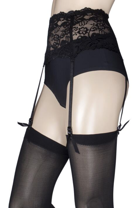 Ladies 1 Pack Miss Naughty Deep Lace Suspender Belt - Up to XXXL Product Image