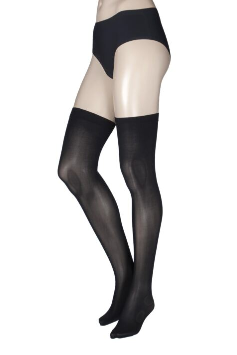 Ladies 1 Pair Miss Naughty 60 Denier Opaque Stockings - Up to XXXL Product Image