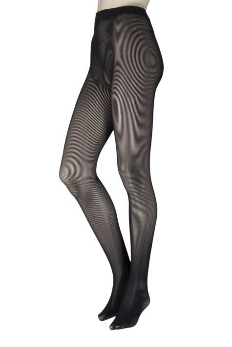 Ladies 1 Pair Couture by Silky Ultimates Seamless and Ladder Proof Opaque Ribbed Tights Product Image