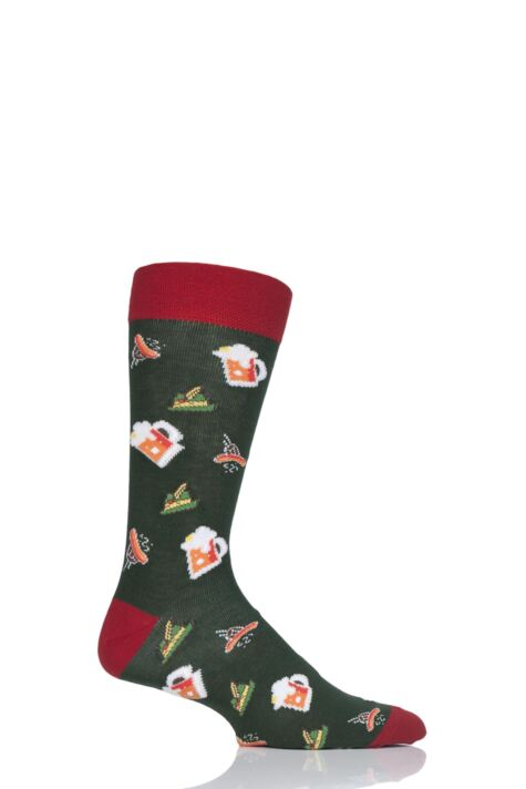 Mens 1 Pair Moustard Oktoberfest Cotton Socks Product Image