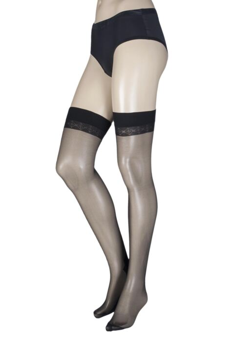 Ladies 1 Pair Trasparenze Pennac 20 Denier Back Seam Sheer Stockings Product Image