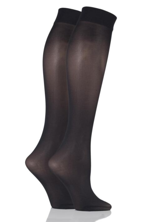 Ladies 2 Pair Pretty Polly 40 Denier Knee Highs Product Image