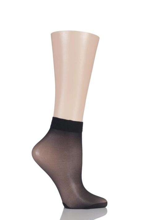Ladies 1 Pair Pretty Polly Sweet Steps 10 Denier Sheer Ankle High Socks Product Image