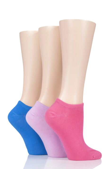 Ladies 3 Pair SockShop Bamboo Trainer Socks with Smooth Toe Seams Product Image