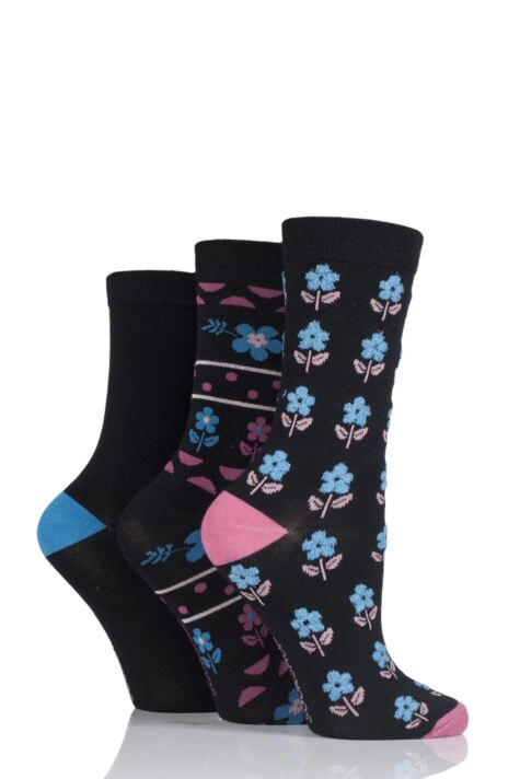 Ladies 3 Pair SockShop Bamboo Feather Socks Product Image