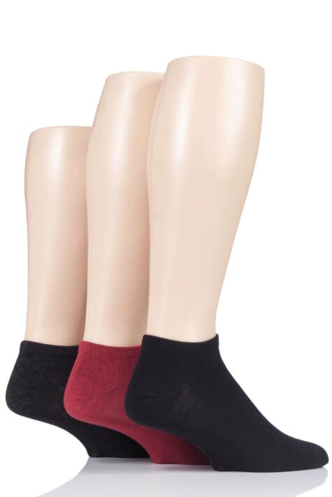Mens 3 Pair SockShop Bamboo Trainer Socks with Smooth Toe Seams Product Image