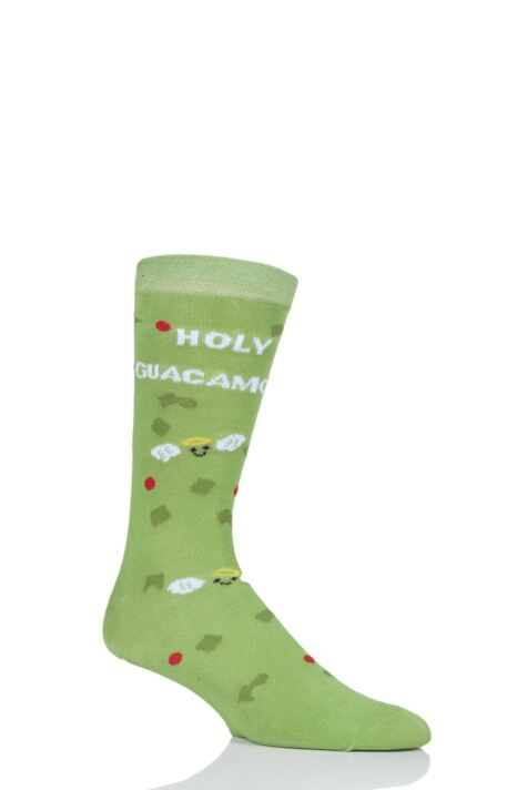 Mens and Ladies SockShop 1 Pair Lazy Panda Bamboo Holy Guacamole Gift Boxed Socks Product Image