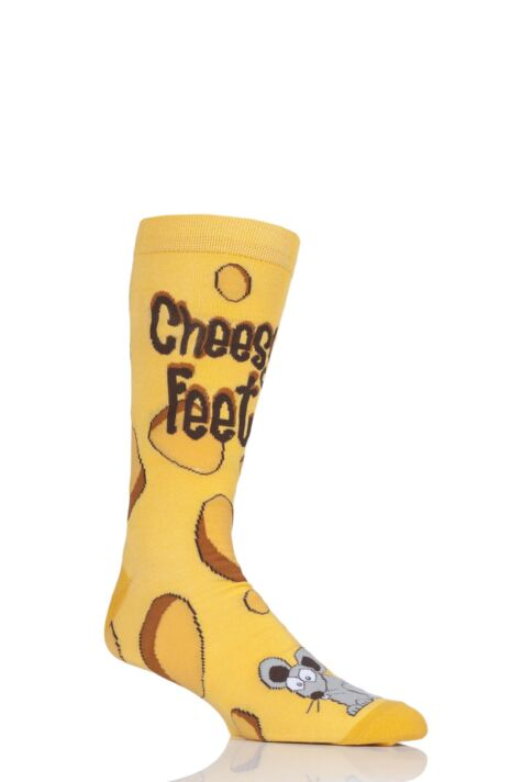 Mens 1 Pair SockShop Bamboo Cheesy Feet Socks Product Image