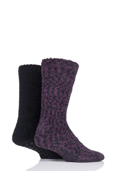 Mens 2 Pair SOCKSHOP Cosy Slipper Socks Product Image
