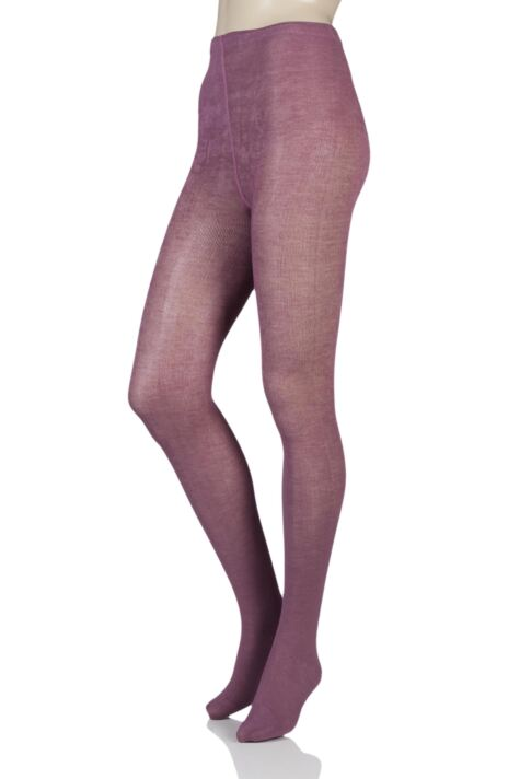 Ladies 1 Pair SOCKSHOP Plain Bamboo Tights with Smooth Toe Seams Product Image