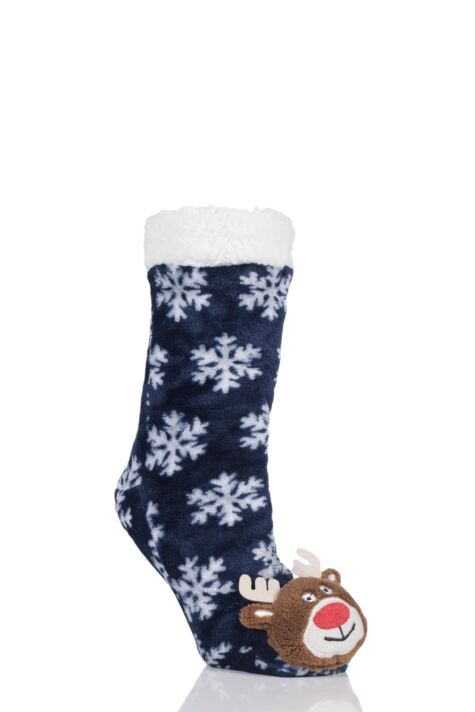 SockShop 1 Pair Plush Christmas Slipper Socks Product Image