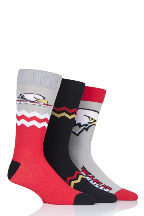 Mens 3 Pair SockShop Wild Feet Novelty Cotton Socks Product Image