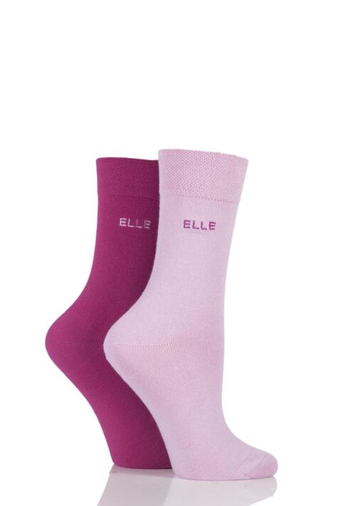 Plain Socks - Magenta / Pink Product Image