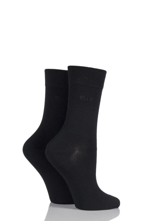 Plain Socks - Black Product Image