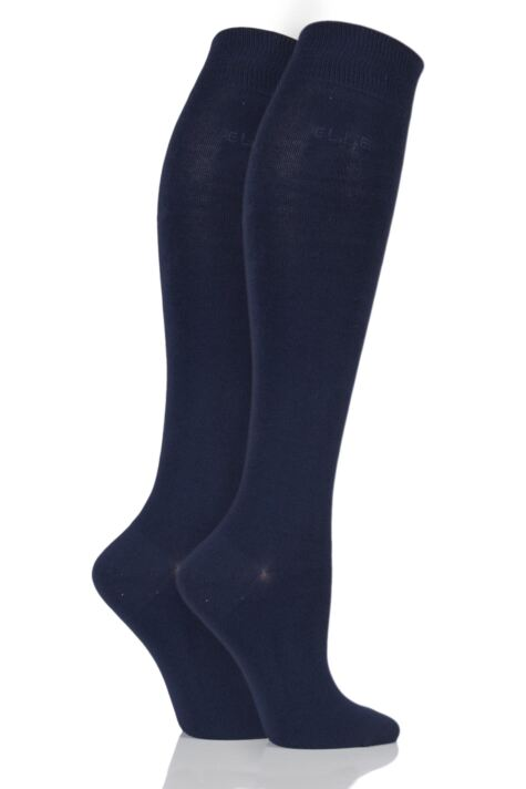 Plain Knee Highs - Navy Product Image