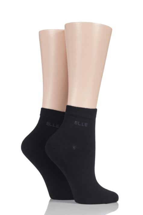 Ladies 2 Pair Elle Bamboo Anklet Socks Product Image