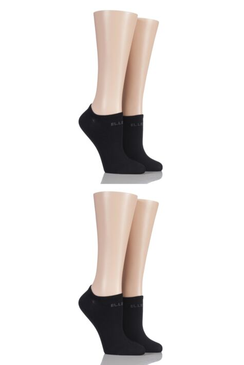 Ladies 4 Pair Elle Bamboo No Show Socks Product Image