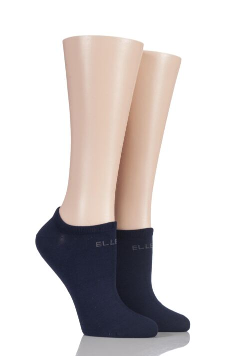 Plain No Show Socks - Navy Product Image