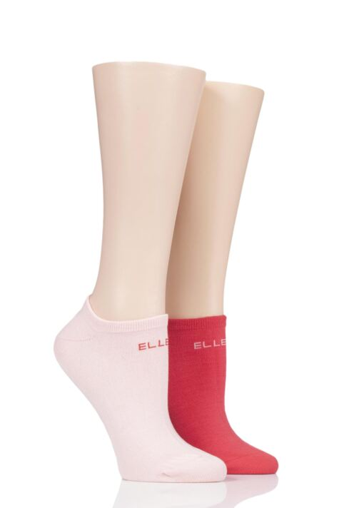 Ladies 2 Pair Elle Plain Bamboo No Show Socks Product Image