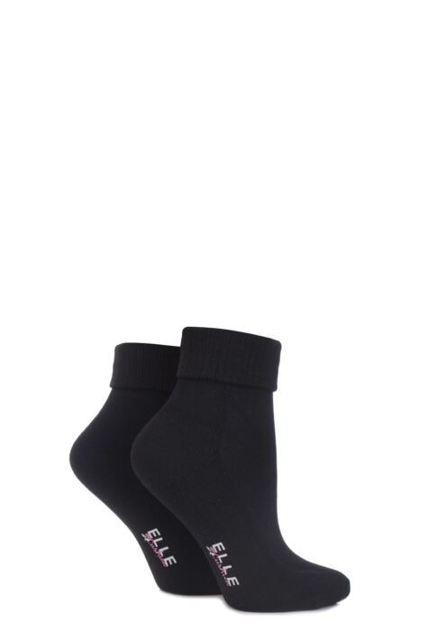 Ankle Socks With Cushion Sole - Black Product Image
