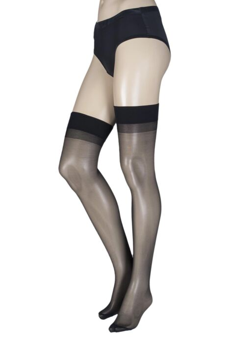 Ladies 1 Pair Trasparenze Sara 20 Denier Silky Stockings Product Image