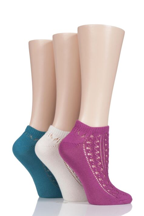 Ladies 3 Pair Elle Soft Pelerine Trainer Socks Product Image