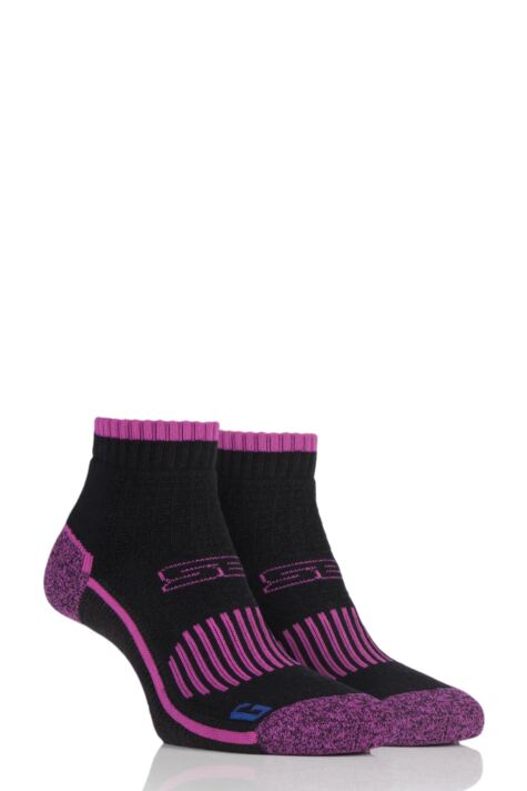 Ladies 2 Pair Storm Bloc with BlueGuard Ankle High Hiking Socks Product Image