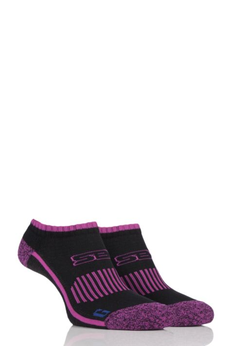 Ladies 2 Pair Storm Bloc with BlueGuard Ankle Trainer Socks Product Image