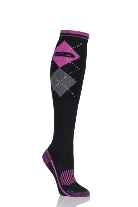 Ladies 1 Pair Storm Bloc with BlueGuard Equestrian Long Cotton Socks Product Image