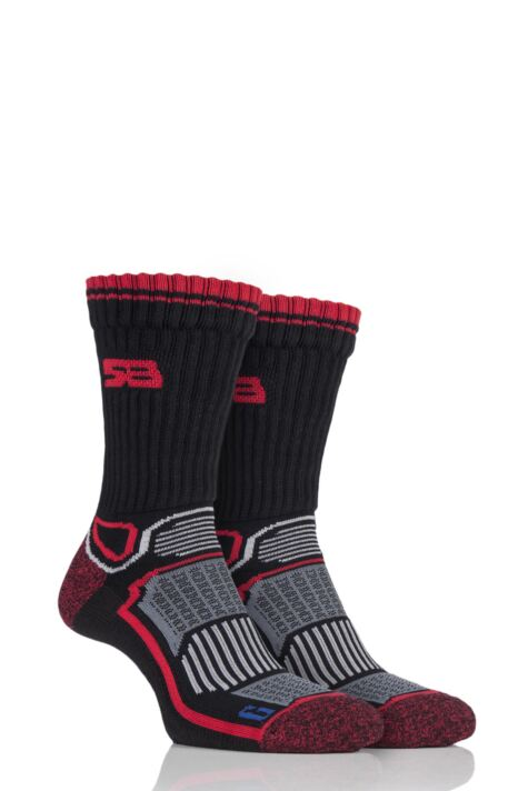 Mens 2 Pair Storm Bloc with BlueGuard Aerobic Socks Product Image
