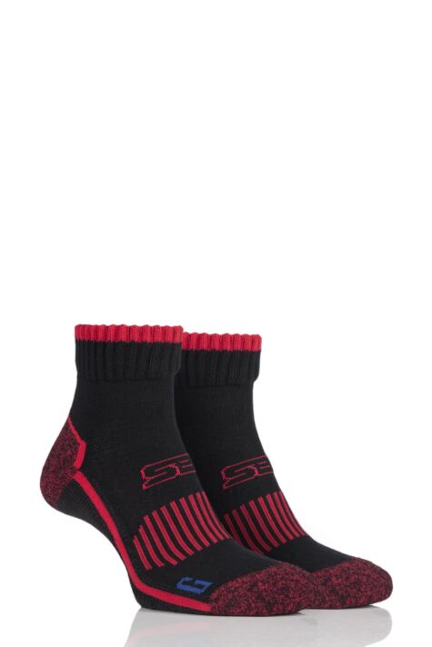 Mens 2 Pair Storm Bloc with BlueGuard Ankle High Walking Socks Product Image
