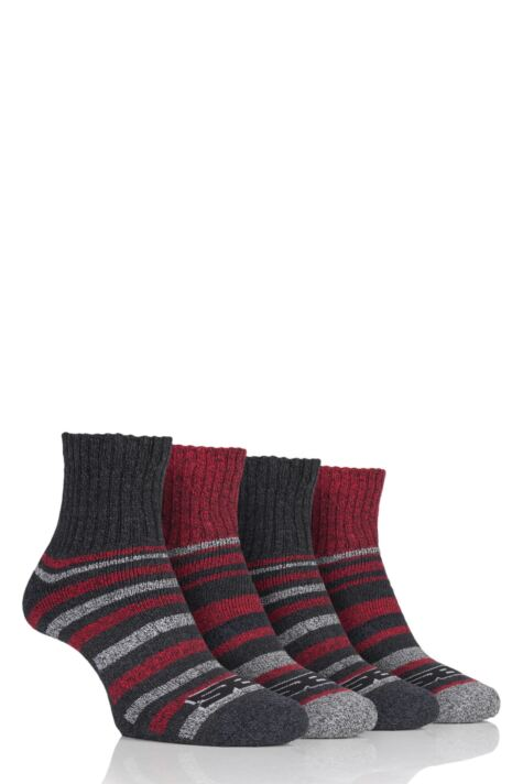 Mens 4 Pair Storm Bloc Performance Ankle Socks Product Image