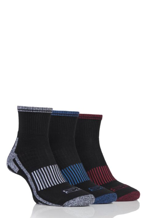Mens 3 Pair Storm Bloc Ankle Socks Product Image