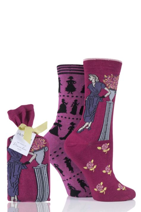 Ladies 2 Pair Thought Fashion Centuries Bamboo and Organic Cotton Socks Gift Bag Product Image