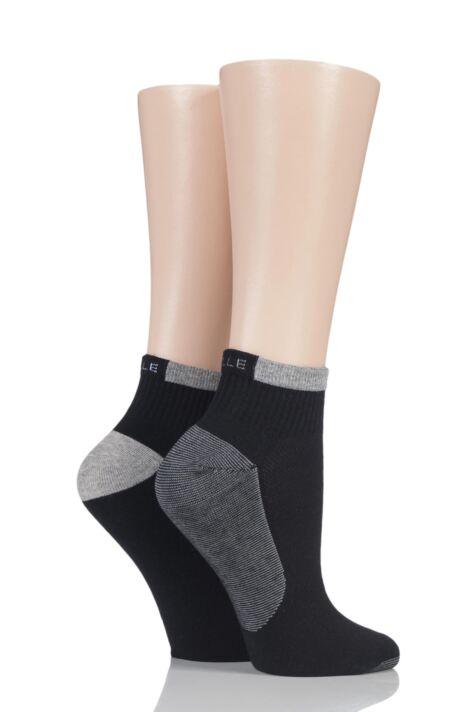 Ladies 2 Pair Elle Sport Non-Cushioned Anklet Socks Product Image