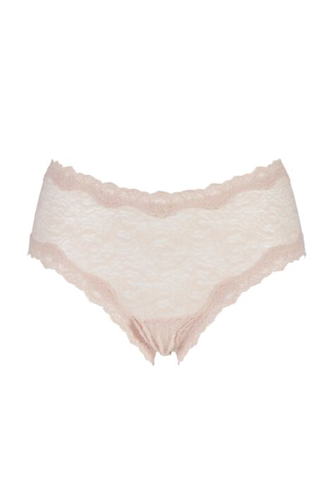 Ladies 1 Pair Kinky Knickers Oyster Handmade In The UK Scalloped Lace Trim Knickers Product Image