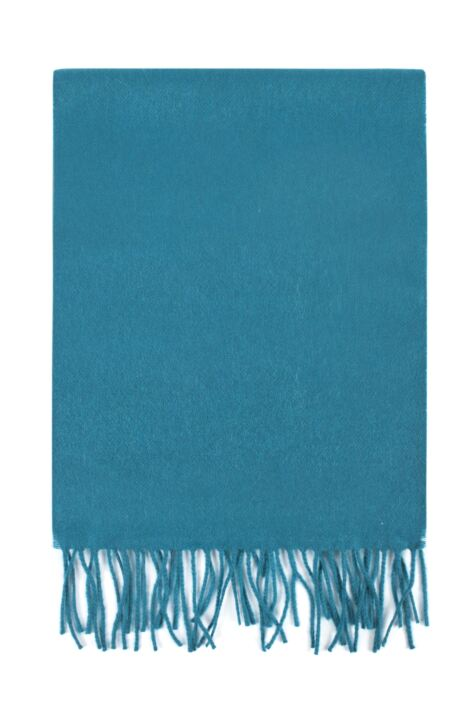 Mens and Ladies Great & British Knitwear Made In Scotland 100% Cashmere Plain Scarf with Fringe Product Image