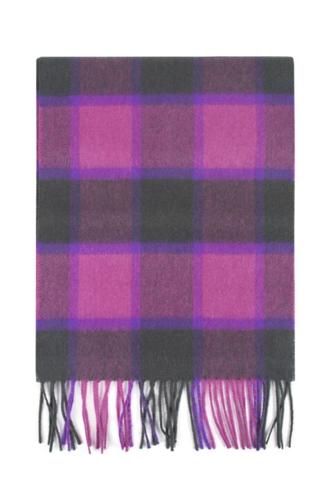 Mens and Ladies Great & British Knitwear Made In Scotland Check 100% Cashmere Scarf Product Image
