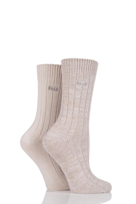 Ladies 2 Pair Elle Chunky Ribbed Boot Socks sale sale Product Image
