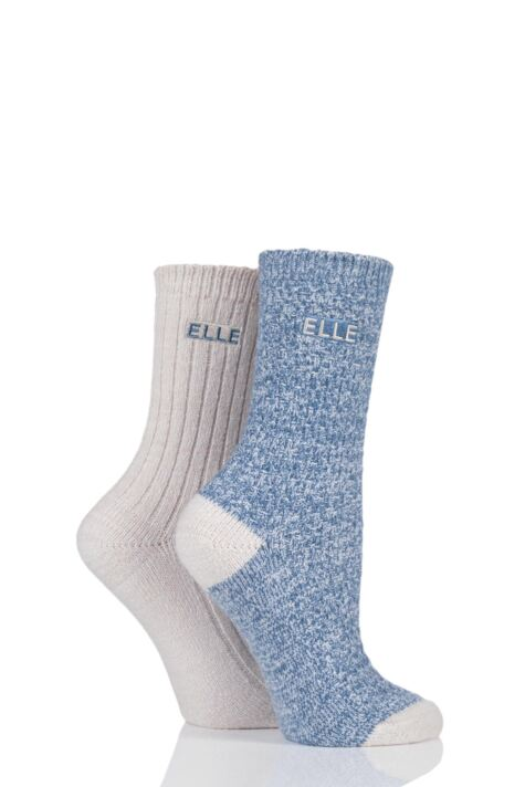Ladies 2 Pair Elle Velvet Soft Boot Socks sale sale Product Image