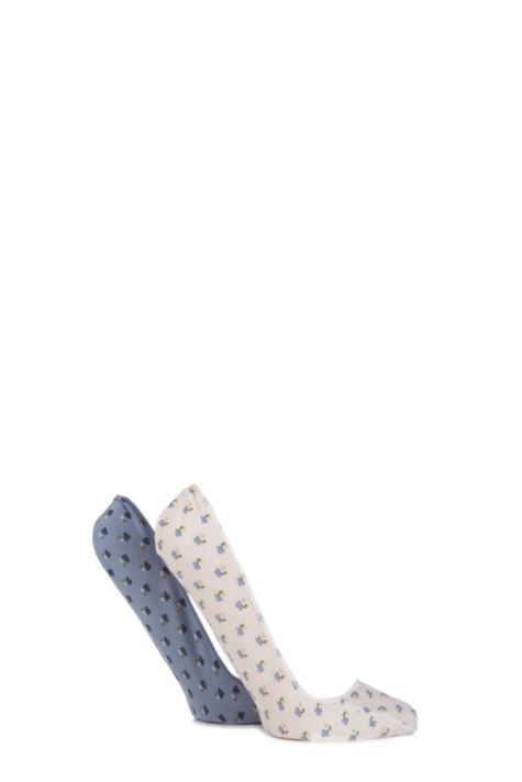 Ladies 2 Pair Elle Floral Printed Shoe Liners with Pad Product Image