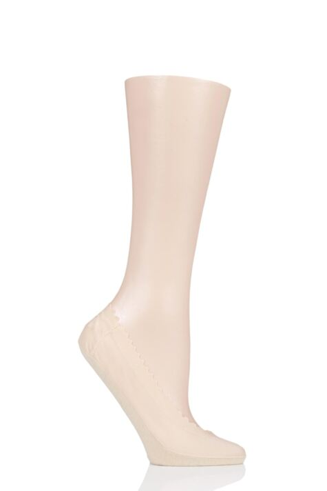 Ladies 1 Pair Elle Scallop Edge Shoe Liner Socks Product Image