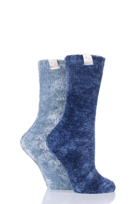 Ladies 2 Pair Elle Chenille Leisure Socks Product Image